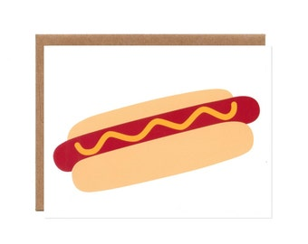 Hot Dog with Mustard -- Summertime Thank You Card
