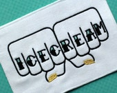 Gold Icecream knuckle tattoo Unframed Embroidery