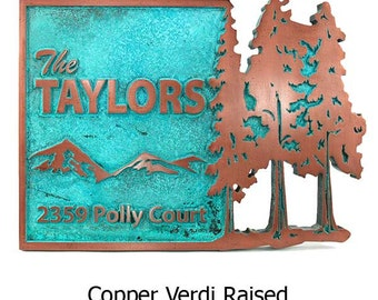 Pine Trees Up North Address Welcome and or Address Plaque 20 x 17.5 inches this is a great size
