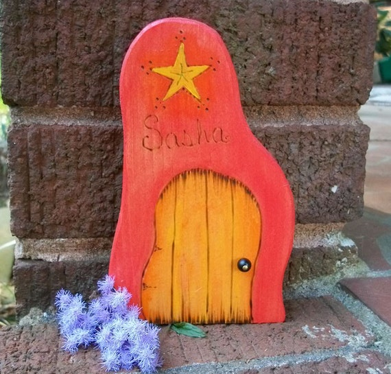 Items similar to personalize a wooden fairy door full 6 for Wooden fairy doors
