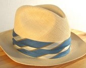 50s Panama Straw Excello Hat by Stetson in a 6 and a half