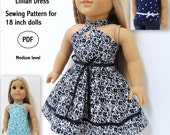 Lillian Dress and Top Pattern for 18 inch dolls