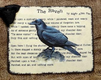 The Raven Edgar Allen Poe Gift or Scrapbook Tags or Magnet  #327