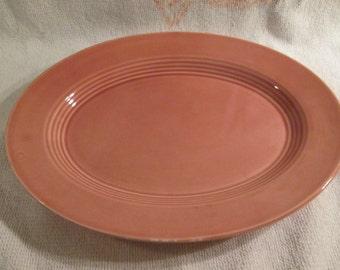 Homer Laughlin Harlequin ROSE Pink Oval Platter