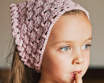 Crochet PATTERN  - Fan and Ruffle Kerchief and Shawl (instructions for both items are included)