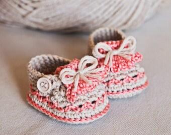 Crochet PATTERN baby booties  - Fringe Loafers
