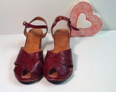 Hand Tooled Mexican Wedge Shoes