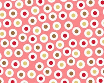 Dots in Pink Flannel Cotton Fabric Zac and Zoe 1/2 Yard