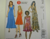 Uncut McCall's Pattern 6074 Size 16-22  Gorgeous One Hour Dress