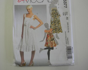 Uncut McCall's Pattern 5377 Size 6-14 Jumper and Dresses