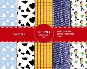 Digital Paper Pack Toy Story. Printable. 12x12 sheets 300 dpi scrapbooking