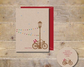 Christmas Card . Holiday Card Set . Cards Holidays . Cards Christmas - A Snowy Christmas Eve