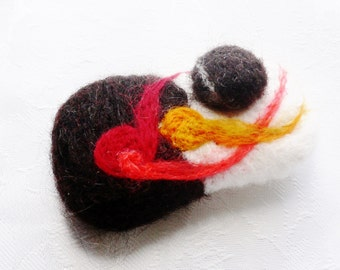 Brooch ... Hand made...Abstract Design... Wearable art ...Hand Felted