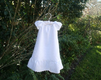 Girls White baptism Beach photos Flower girl  available from newborn to size 10