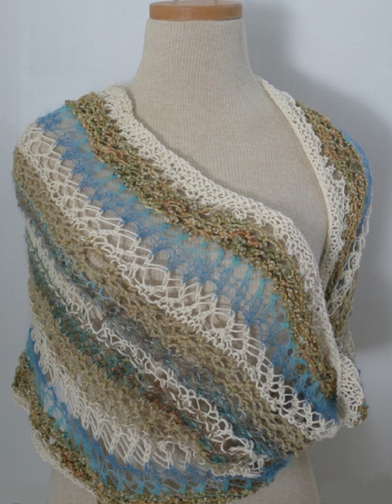 Knitted Womens Mobius Shawl Wrap/ Rodarte Inspired / by Dreamfiber
