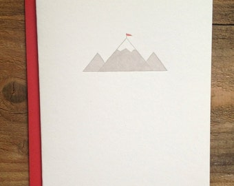 Mountain Letterpress Card