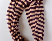 Striped Jersey knit Infinity scarves in three Spring color combinations