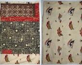 PILLOWCASE batik Japanese geisha, standard bed pillow, red tan beige ivory black brown cotton, twin bed, Asian bedding linens dorm pc7