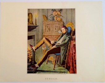 Single or Married 1952 Currier & Ives Print 11 x 15 1800s Book Reprint to Frame