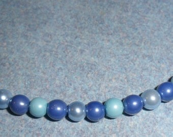 Three Shades of Blue Magnetic Anklet