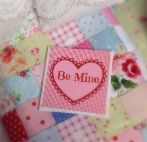 Dollhouse Miniature Valentine Canvas