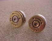 Bullet Earrings Starline 45 Colt Brass Shell Recycled Upcycled - Free Shipping to USA