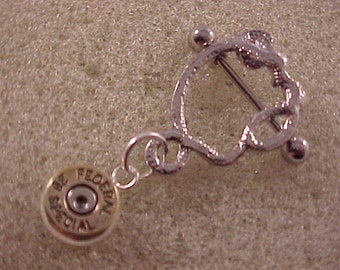 Python Nipple Shield with Federal 38 Special Bullet Charm