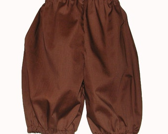 Brown Costume Britches for Boys: Size 14 / 16