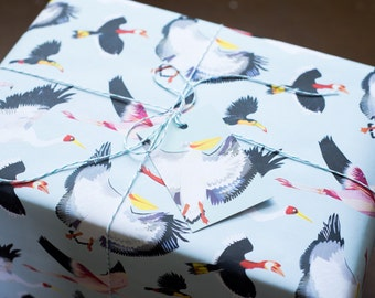 Fabulous Flock Wrapping Paper