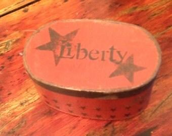 Paper Mache Vintage Liberty Box