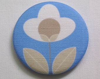Tulip fabric covered pocket mirror