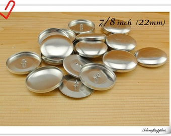 200 sets of  cover buttons 7/8 inch (22mm)  Size 36  Self cover buttons Wire back Cover button wholesale