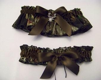 Mossy Oak Breakup Bridal Bride Garter SET Camouflage Wedding All accessories