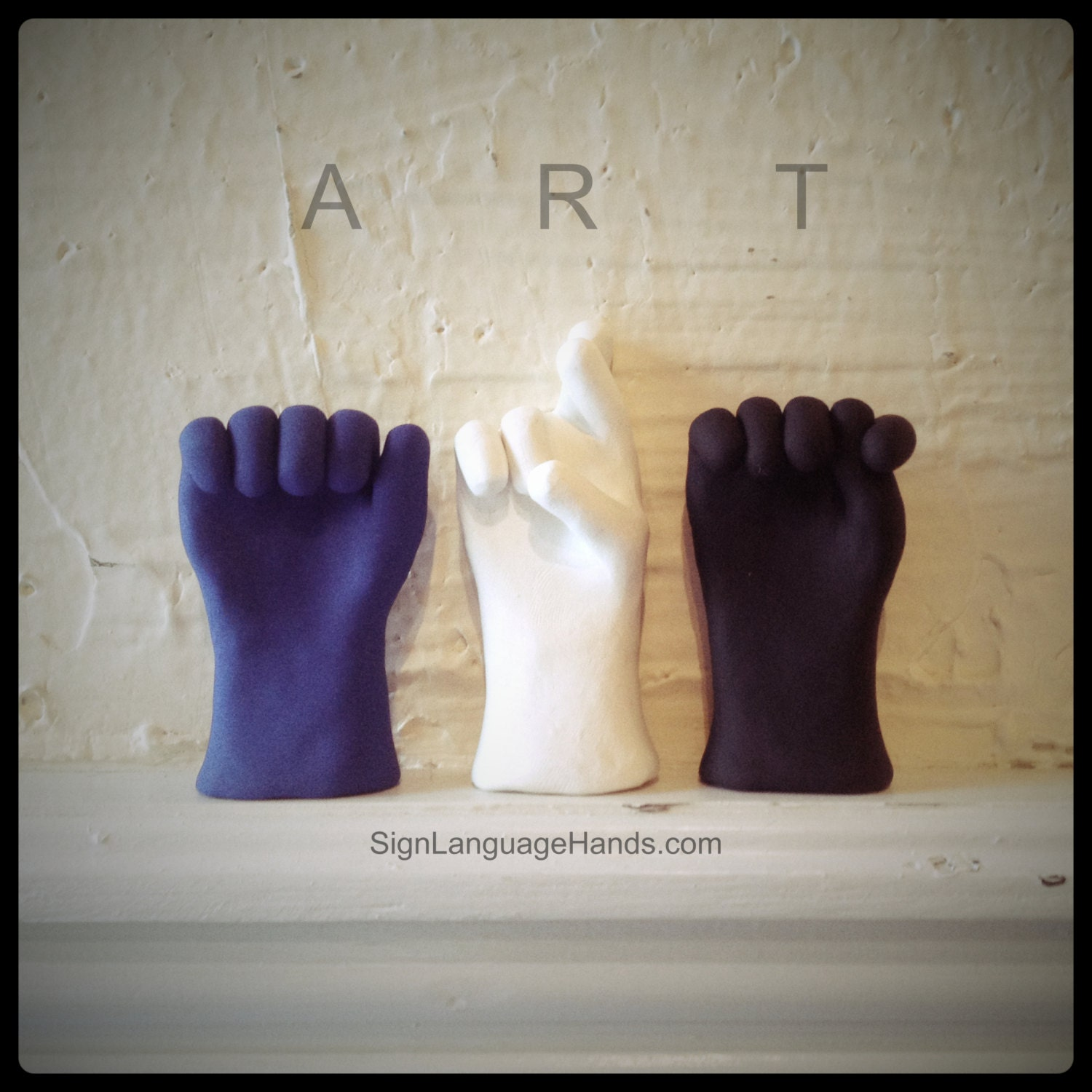 3 Letter Name in American Sign Language Art Sculptures Any