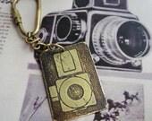 SALE Camera Key Ring -- Acid Bath Series