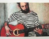 Seaman / Big print -  Portrait drawing - ART PRINT- digital print -wall decoration  size A3 -  Digital Prints & Reproductions