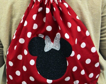 Minnie Mouse Cheer Drawstring Backpack by Funbows