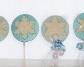 Frozen Snowflake lollipops