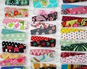 Cotton reversible headbands, set of 2, bunch pack non slip headbands, bulk girl headbands, baby toddler girl women, girl party favor gift