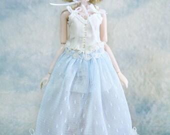 Jiajia Doll limited Dear Angel - light blue lace long dress Many Way to Wear - fit momoko or misaki or blythe Azone Pullip Dorandoran
