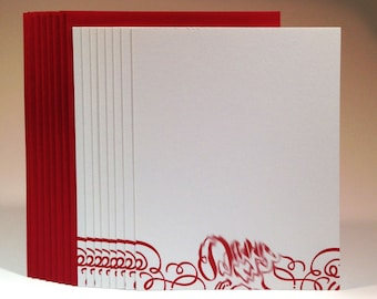 "What the BLEEP: ""D*mn"" mature letterpress stationery"