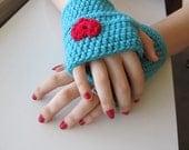 Crochet fingerless gloves pattern, pdf pattern, instant download