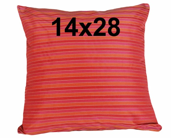 Long Sofa Pillows Unique Red Pillow Pink Red by PillowThrowDecor
