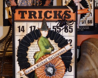 Halloween Ornament,  Wicked Witch Wall Hanging or Ornament by Stacy Marie
