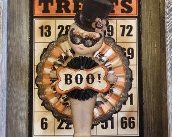 Kewpie Doll, Halloween Kewpie Doll Ornament or Wall Hanging by Stacy Marie