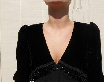 Vintage 1980s Morton Myles for the Warrens bolero style dress