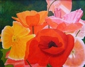 Brilliant Poppy Painting Giclee Print 8x10 Artist Proof Signed