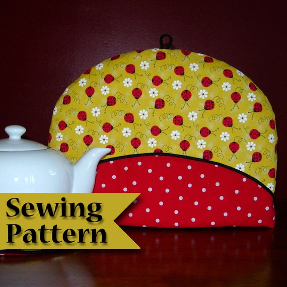 Tea cosy sewing pattern | DIY | Tea cozy pattern | Make your own | PDF tutorial | Instant download | Teapot cozy | Tea pot cover