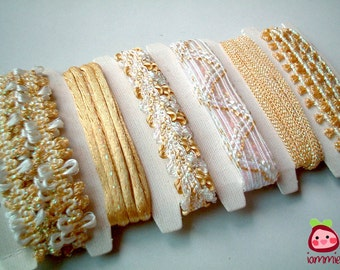Golden, Fabric, Trim, ribbon, lace, trim, scrapbooking, silver, white, craft, wedding, party, card decoration, gold, card decoration, iammie