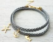 Beach Bracelet, friendship bracelet, wraparound bracelet, charm bracelet, stackable bracelet